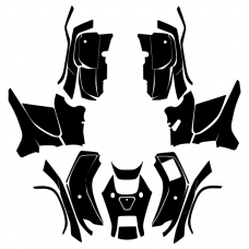 Honda FourTrax Foreman 4x4 2009 2010 2011 2012 2013 2014 Graphic Templates