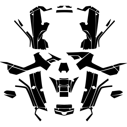 Can-Am Outlander G1 500 650 800 R XT MAX 2006 2007 2008 2009 2010 2011 2012 Full Kit Graphic Templates