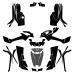 Can-Am Outlander G2 800 1000 R-XT XMR MAX Full Kit 2012 2013 2014 2015 2016 2017 2018 2019 Graphic Templates