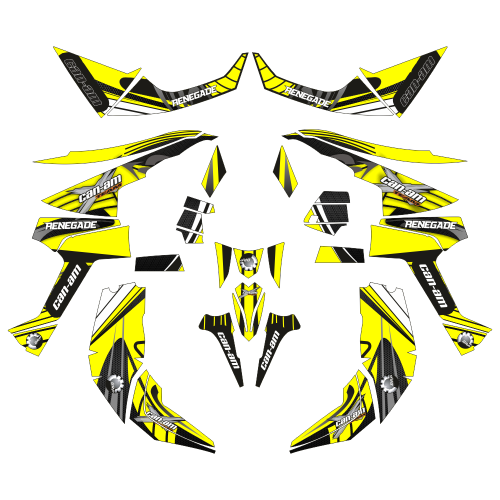 Can-Am Renegade Sport EDITABLE DESIGNS Graphic Templates