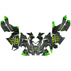 Polaris Axys Monster Energy EDITABLE DESIGNS Graphics Template