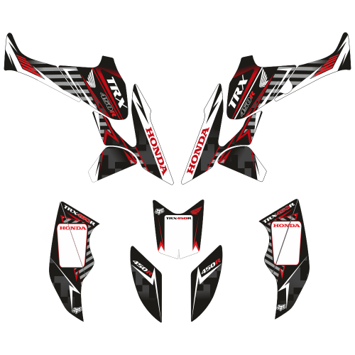 Honda TRX 450 Black EDITABLE DESIGNS Graphic Templates