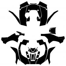 KAWASAKI Brute Force 750 2012 2013 2014 2015 2016 2017 2018 2019 2020 Full Kit Graphic Templates