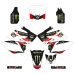 Honda CRF 250R 07 08 Monster EDITABLE DESIGNS Graphics Template