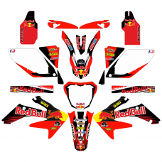 Honda CRF250 Red Bull EDITABLE DESIGNS Graphic Templates