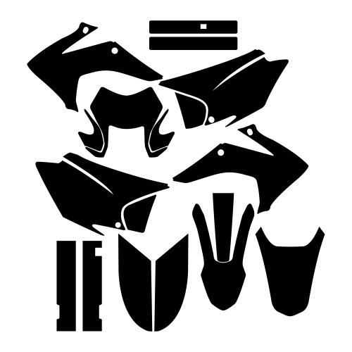 Honda CRF 150 230 2015 Graphic Templates