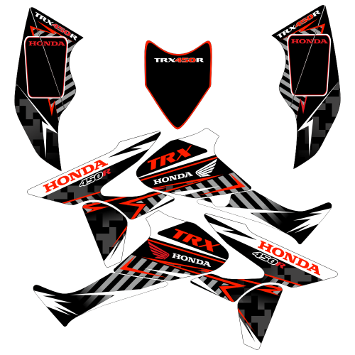 Honda TRX 450R Thunder EDITABLE DESIGNS Graphic Templates