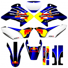 Honda XR 250 REDBULL 17-19 EDITABLE DESIGNS Graphic Templates