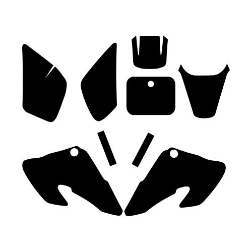 Honda XR 50 2000 2001 2002 2003 Graphic Templates