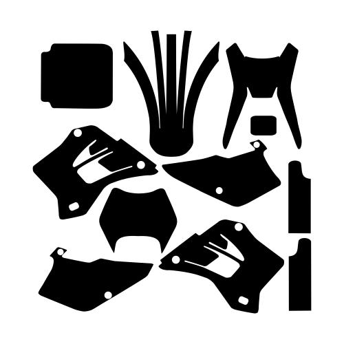 Kawasaki KDX 200 220 1995 1996 1997 1998 1999 2000 2001 2002 2003 2004 2005 2006 2007 2008 Graphic Templates