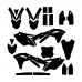 KAWASAKI KXF 250 2017 Graphic Templates