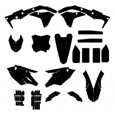 KAWASAKI KXF 250 2018 Graphic Templates
