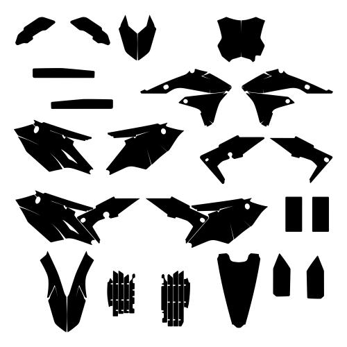 KAWASAKI KXF 450 2018 Graphics Templates