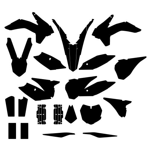 KTM SX 125 150 250 2013 Graphic Templates