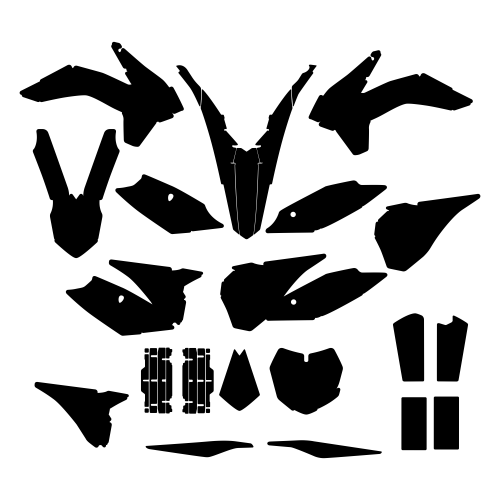 KTM SX-F 250 350 450 2013 Graphic Templates
