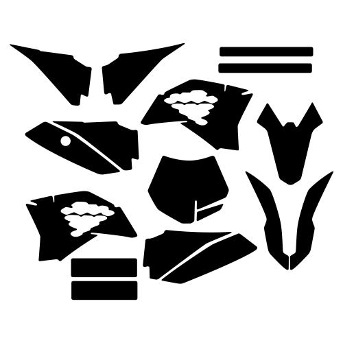 KTM SX 50 2013 Graphic Templates
