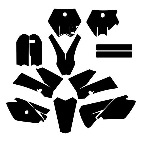 KTM SX 85 2006 2007 2008 2009 2010 2011 2012 Graphics Template