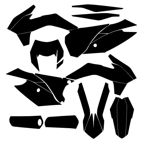 KTM EXC XC-W XCF-W 2014 2015 2016 Graphic Templates