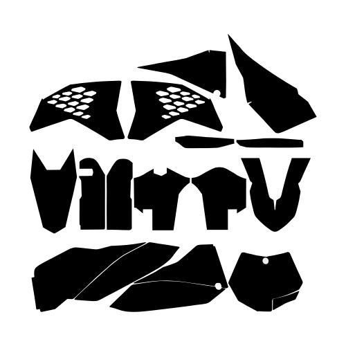 KTM SXF 2007 2008 2009 2010 Graphics Template