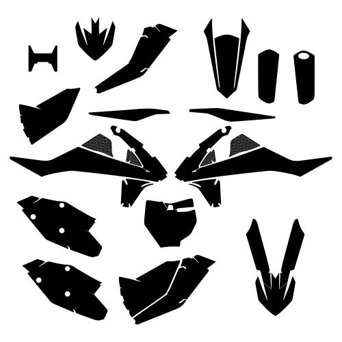 KTM SX SXF 2018 Graphic Templates