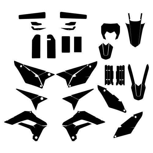 SHERCO SE-R 300  2018 Graphic Templates