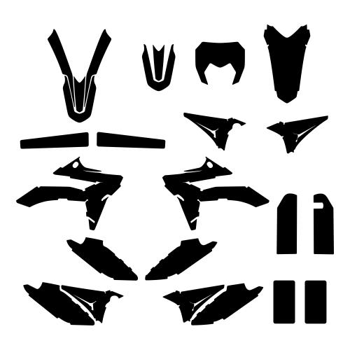 SHERCO SM-R 50 2018 Graphic Templates