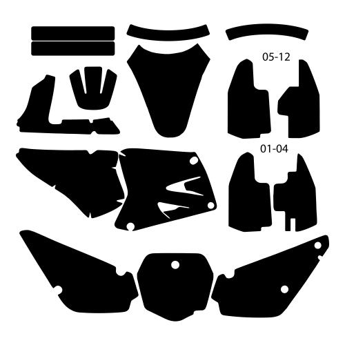 Suzuki RM 85 2001 2002 2003 2004 2005 2006 2007 2008 2009 2010 2011 2012 Graphics Template