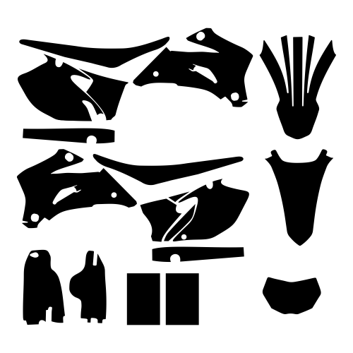 Yamaha WR 250 2007 2008 2009 2010 2011 2012 2013 Graphic Templates