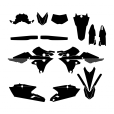 YAMAHA WRF 250 450 2018 Graphic Templates