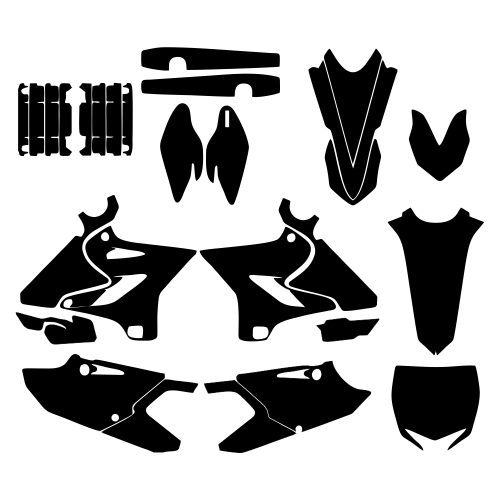 Yamaha YZ 125 250 2015 2016 Graphic Templates