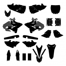 YAMAHA YZ 125 250 2018 Graphics Templates