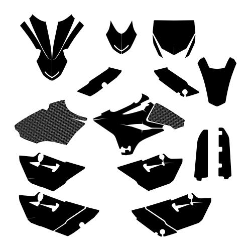 Yamaha YZ 85 2015-2018 Graphics Template vector EPS