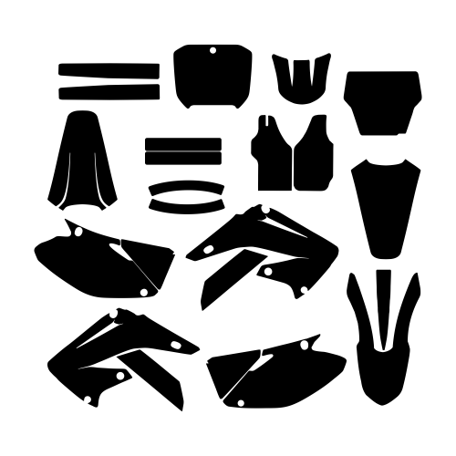 Honda CR 125 250 2006 2007 2008 2009 2010 2011 2012 Graphic Templates