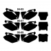 HONDA CRF 250 2004 2005 2006 2007 2008 2009 Graphic Templates