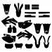 HONDA CRF 250X 2004-2016 Graphic Templates