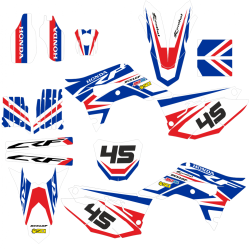 HONDA CRF 450 2017 2018 2019 CROSS EDITABLE DESIGNS Graphic Templates
