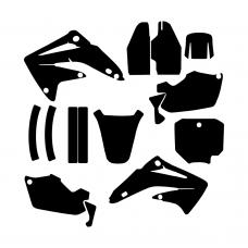 Honda CR 85 2003 2004 2005 2006 2007 2008 2009 2010 2011 2012 Graphic Templates