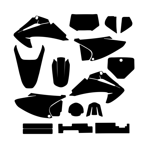 Honda CRF 150 230 2003 2004 2005 2006 2007 Graphic Templates