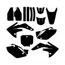 Honda CRF 150 230 2007 2008 2009 2010 2011 2012 Graphic Templates