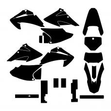 HONDA CRF 230 F 150 F 2002 2003 2004 2005 2006 2007 2008 2009 2010 2011 2012 2013 2014 Graphic Templates