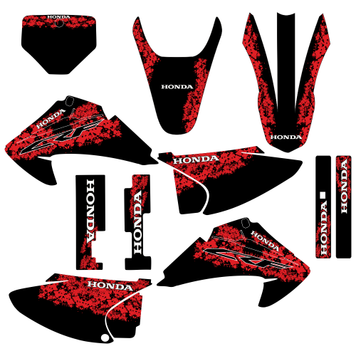 Honda CRF 230 2007 Devil EDITABLE DESIGNS Graphic Templates