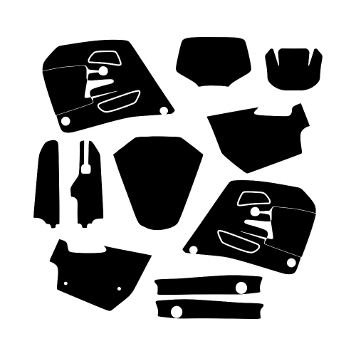 HUSQVARNA WR 250 360 1995 1996 1997 Graphic Templates