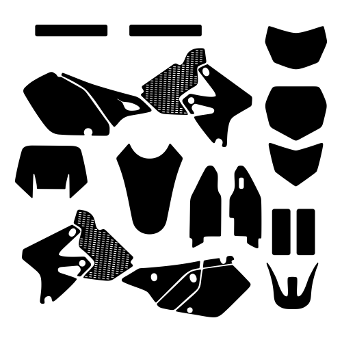 Kawasaki KLX 400 2000 2001 2002 2003 2004 Graphic Templates