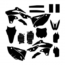 KAWASAKI KXF 250 2013 2014 2015 Graphic Templates