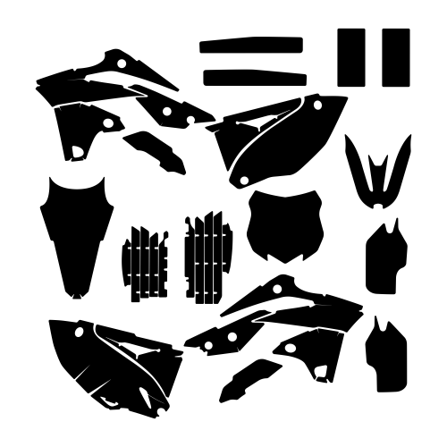 KAWASAKI KXF 250 2013 2014 2015 Graphic Templates