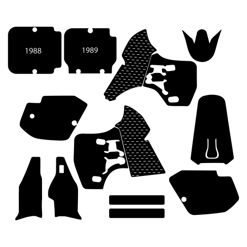 Kawasaki KX 500 1988 1989 1990 1991 1992 1993 1994 1995 1996 1997 1998 Graphic Templates