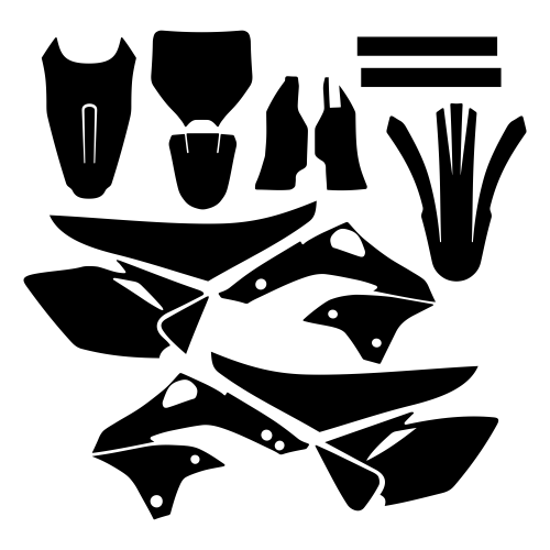 Kawasaki KXF 450 2006 2007 2008 Graphic Templates