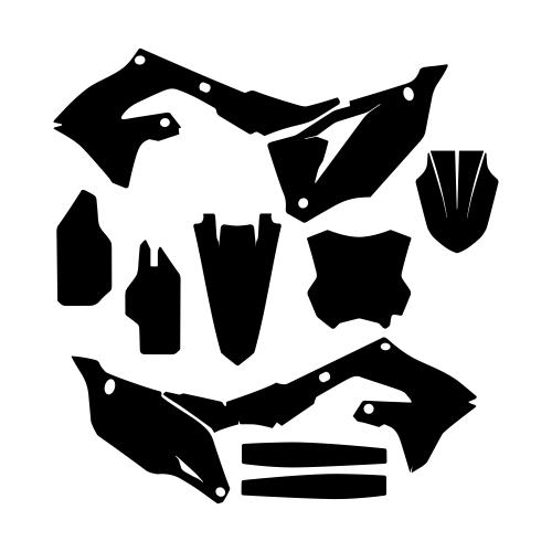 KAWASAKI KX 250F 2021- Graphic Templates