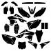 KAWASAKI KXF 250 2015 Graphic Templates
