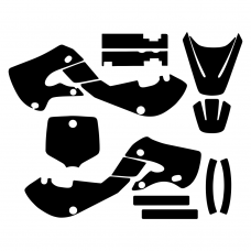 Kawasaki KLX 110 2000 2001 2002 2003 2004 2005 2006 2007 2008 2009 Graphic Templates